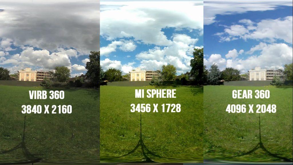 xiaomi mi sphere vs gear 360 vs virb 360