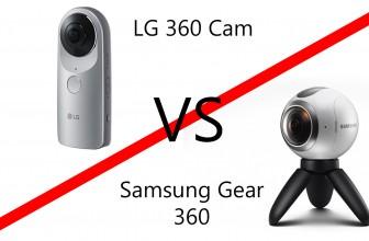 LG 360 CAM vs Samsung Gear 360 – Comparison Table
